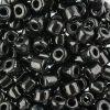 Czech Rola Bead 4.5mm Apx 20g Opaque Black